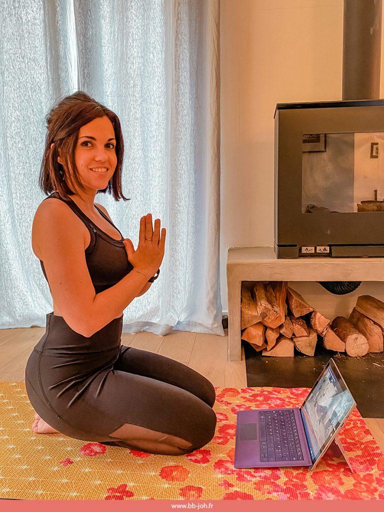vidéo cours yoga fitness pilates