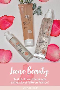 test avis composition produits beauté joone